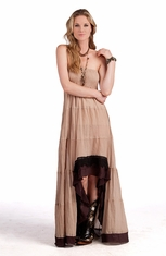 Rancho Estancia Womens Exotic High Low Dress (Closeout)