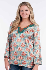 Rancho Estancia Womens Keely Tunic with Beading