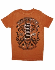 Red Chapter Boy's Rough Tough Tee Shirt - Orange