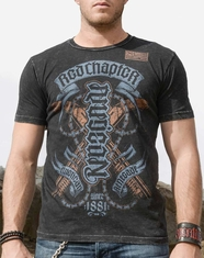 Red Chapter Men's American Renegade Tee Shirt - Black Graphite (Closeout)