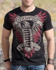 Red Chapter Men's Loyalty Family Tee Shirt - Black Graphite