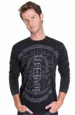 "Red Chapter Mens Long Sleeve ""Live True Love Life"" Shirt - Mineral"