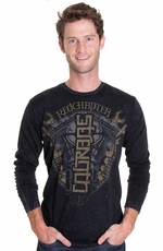 "Red Chapter Mens Long Sleeve ""Strength Courage"" Shirt - Mineral"