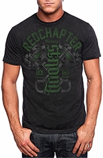 "Red Chapter Mens ""Strong/Fearless"" Tee Shirt - Mineral"