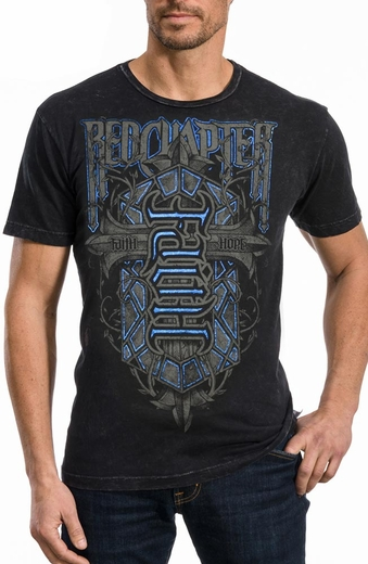 Red Chapter Mens Faith Hope Tee Shirt - Black (Closeout)