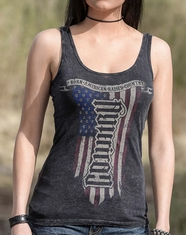 Red Chapter Women's American Country Tank Top - Vintage Black