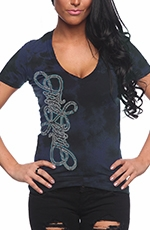 "Red Chapter Womens ""Free Spirit"" Tee Shirt - Navy"