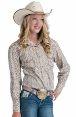 Resistol Girls RU Olivia Snap Western Shirt - Grey