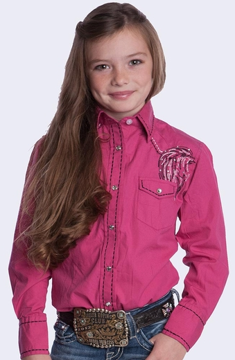 Resistol Girls RU Hope & Passion Snap Western Shirt - Pink