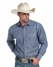 Resistol Men's RU Peter Patterned Snap Shirt - Blue (Closeout)