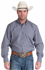 Resistol Ranch Mens Check Button Down Western Shirt - Purple