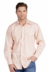 Resistol Mens Rancho Estancia Inlay Snap Western Shirt - Melon (Closeout)