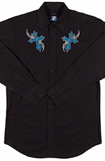 Resistol Mens RU Everlasting Snap Western Shirt - Black