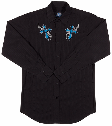 Resistol Mens RU Everlasting Snap Western Shirt - Black (Closeout)