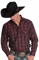 Resistol Mens RU Fast Forward Snap Western Shirt - Black