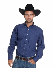 Resistol Ranch Men's Lester Solid Button Down Shirt - Blue