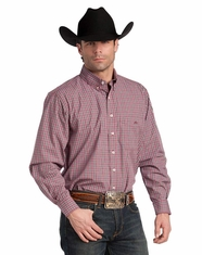 Resistol Ranch Men's Long Sleeve Union Plaid Button Down Shirt (Closeout)
