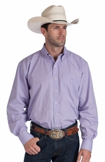 Resistol Ranch Mens Plaid Button Down Western Shirt - Purple