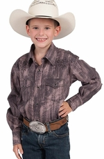 Resistol RU Boys Marshall Snap Western Shirt - Purple