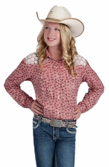 Resistol RU Girls Daisy Snap Western Shirt (Closeout)