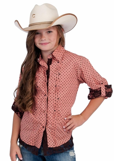 Resistol RU Girls Dollie Snap Western Shirt (Closeout)