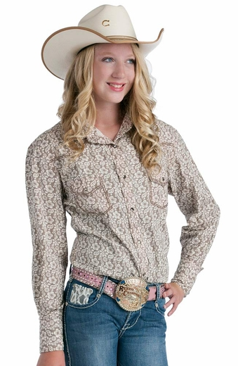 Resistol Girls RU Olivia Snap Western Shirt - Grey (Closeout)
