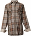 Roar Boys Apollo Long Sleeve Plaid Button Down Western Shirt - Brown (Closeout)