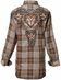 Roar Boys Apollo Long Sleeve Plaid Button Down Western Shirt - Brown