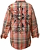 Roar Boys Encode Long Sleeve Plaid Button Down Western Shirt - Orange