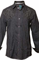 Roar Men's Individuality Shirt - Black