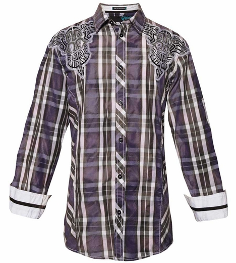 Roar Men's Orion Shirt - Purple (Closeout)