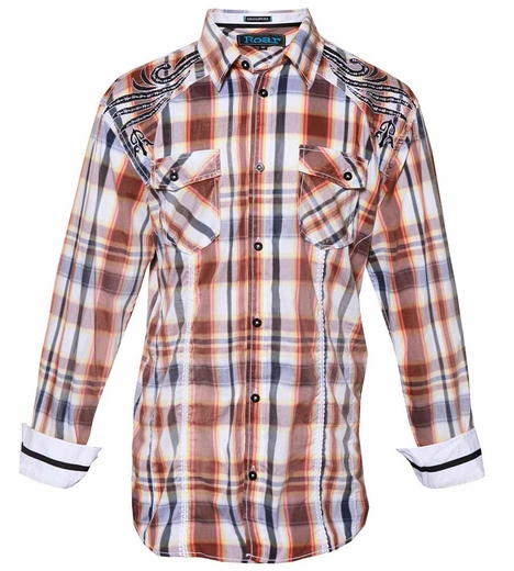 Roar Men's Sentry Shirt - Brown (Closeout)