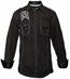 "Roar Men's ""Unconditional II"" Long Sleeve Solid Button Down Western Shirt - Black"