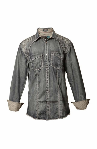 Roar Mens Denim Button Down Kearney ll Shirt