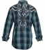 Roar Mens Slim Fit Supersonic Plaid Button Down Western Shirt (Closeout)