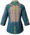 "Roar Women's ""American Summer II"" 3/4 Sleeve Plaid Western Button Down Shirt - Green (Closeout)"