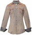 "Roar Women's ""American Summer"" Long Sleeve Solid Western Button Down Shirt - Lavender"
