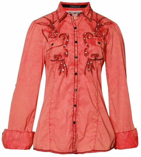 Roar Women's Fruition Shirt - Coral (Closeout)