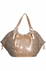 Wrangler Rock 47 Womens Angel Shimmer Handbag - Tan