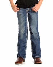 Rock and Roll Cowboy Boy's Regular Fit Jeans - Dark Vintage (Closeout)