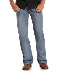 Rock and Roll Cowboy Men's Double Barrel Relaxed Fit Straight Leg Jeans - Light Wash (Closeout)