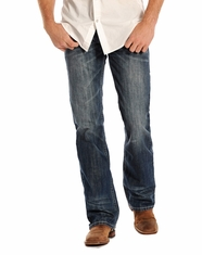 Rock and Roll Cowboy Men's Pistol Regular Fit Straight Leg Jeans - Medium Vintage (Closeout)