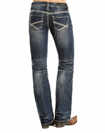 Rock and Roll Cowgirl Women's Riding Boot Cut Jeans - Medium Vintage (Closeout)