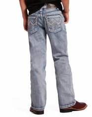 Rock & Roll Cowboy Boy's Regular Fit Boot Cut Jeans - Light Wash