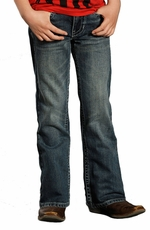 Rock & Roll Cowboy Boys BB Gun Regular Fit Jeans - Dark Wash (Closeout)