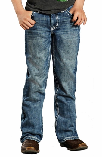 Rock & Roll Cowboy Boys BB Gun Regular Fit Jeans - Medium Wash (Closeout)