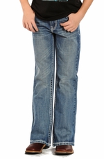 "Rock & Roll Cowboy Boys Regular Fit Double ""V"" Stitch Jeans"