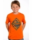 Rock & Roll Cowboy Boys Short Sleeve Logo Tee Shirt - Orange (Closeout)