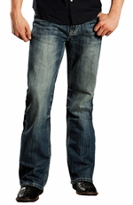 Rock & Roll Cowboy Cannon Loose Fit Stitch Pocket Jeans - Medium Vintage (Closeout)