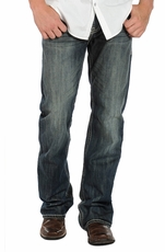 Rock & Roll Cowboy Men's Double Barrel Relaxed Fit Boot Cut Jeans - Dark Vintage (Closeout)